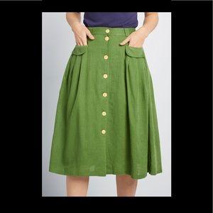 ModCloth Midi Skirt - Green